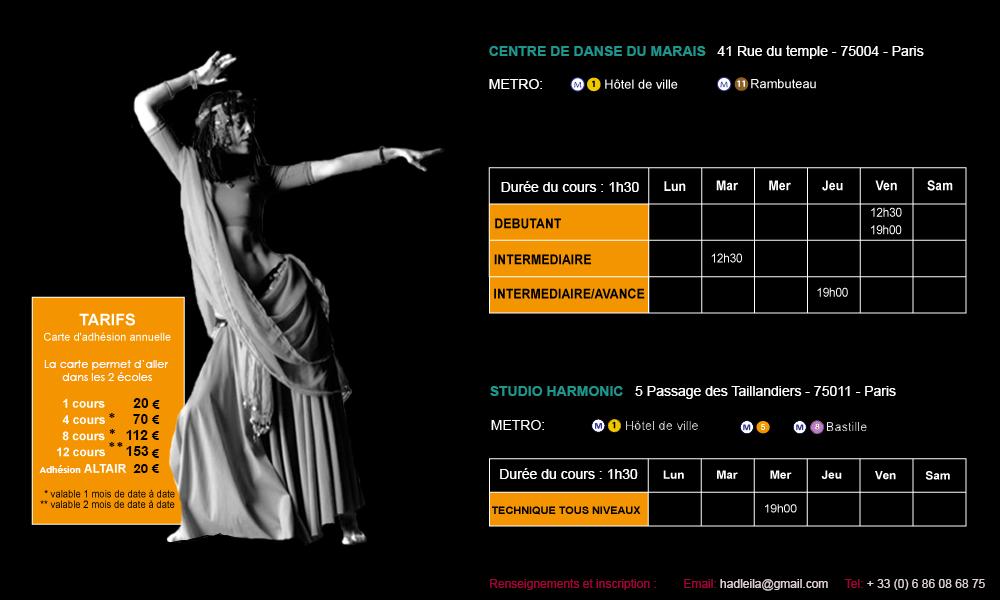 Leila Haddad  Cours & Stages de danses orientales